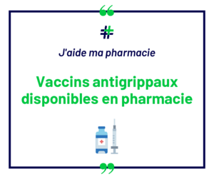 Vaccin grippe disponible (blanc)